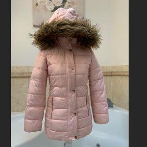 Light Pink Jacket size 8-10 w/detachable hood